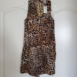 Leopard print shorts jumper
